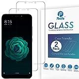 Pevita Protector de Pantalla para Xiaomi Mi A2 [2 Packs] Case Friendly. Dureza 9H, Sin Burbujas, Fácil Instalación. Protector de Pantalla de Cristal Templado Premium para Xiaomi Mi A2
