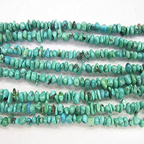 Thetastejewelry 6–8 mm Chips Perles Turquoise 38,1 cm 38 cm Bijoux Collier Healing