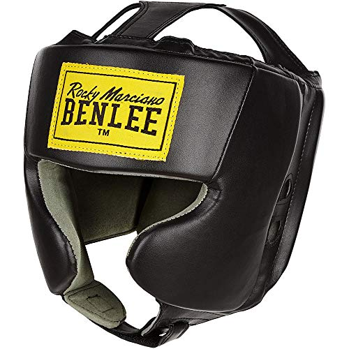 BENLEE Rocky Marciano Unisex Jugend Mike JUNIOR Artificial Leather Head Guard, Black,