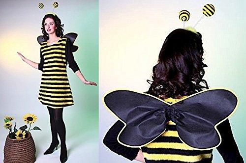 (Karneval Damen Kostüm Biene Kleid als Bienenkostüm Größe 40/42)