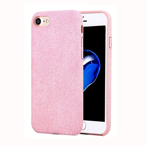 Hülle Für iPhone 7 Ultra Fiber + PC Protective zurück Fall Mode Telefon Fall Handyhülle (Farbe : Rosa)