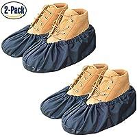 YOUTU Cubierta de zapato antideslizante,Lavable reutilizable,Proteger tus zapatos,piso,alfombra Limpio y ordenado (2 Paare)