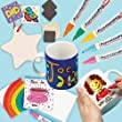 Porcelain Painting Super Value Pack! Transform ceramic blanks with your own designs. Includes 4 porcelain mugs, 5 ceramic heart hanging decorations, 8 ceramic coasters, 10 ceramic magnets and 5 porcelain paint pens.