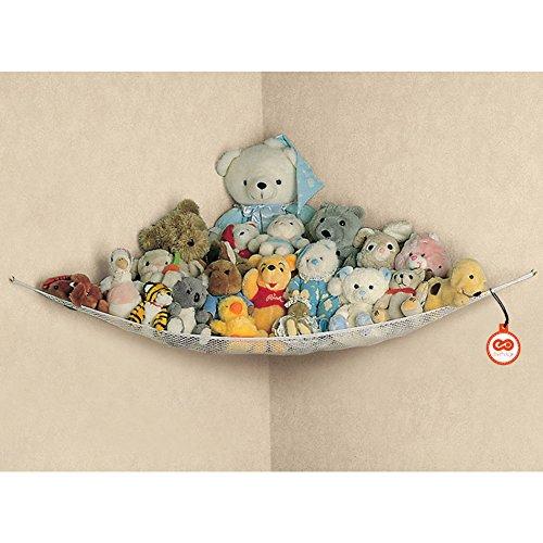 Spielzeug Hängematte Spielzeug-Netz Aufbewahrungsnetz Hängender Organizer für Kuscheltiere Spielzeug Ordentlich Aufbewahrungstasche Mesh Net Kinderzimmer Badezimmer
