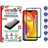 Jump Start Edge Full Glue Front Body Cover Tempered Glass Screen Protector For One Plus 6 (Black)