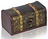 Piraten-Schatztruhe von Thunderdog - Holztruhe braun - Handarbeit Vintage mit