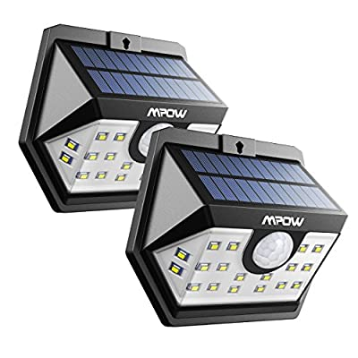 Mpow Solar Lights, 20 LED Super Bright Motion Sensor Security Lights, Solar Powered Lights with Wide Angle Lighting