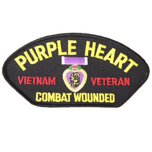 Lila Herz Vietnam Veteran Combat Verwundete bestickt Patch Patriotische Geschenke