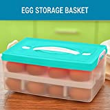 #7: Tied Ribbons 2 Dozen 24 Grid Refrigerator Egg Storage Box Container Tray (Plastic, Assorted Color)