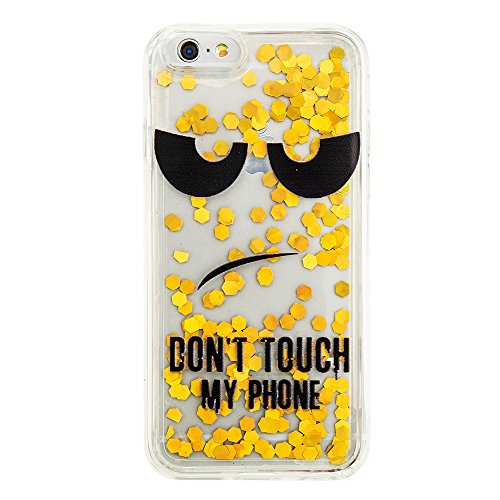 Nutbro iPhone 6S Quicksand Case,iPhone 6 Love Heart Glitter Stars Dynamic Liquid Quicksand Soft TPU Phone Case Dynamic Liquid Glitter Stars Bling Quicksand Hard Case Cover YB-iPhone-6S-293