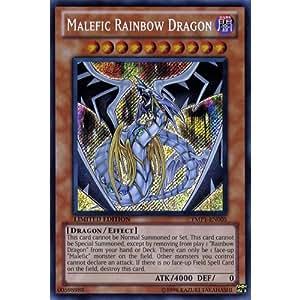 YuGiOh : YMP1-EN005 Limited Ed Malefic Rainbow Dragon Secret Rare Card - ( Movie Pack Yu-Gi-Oh! Single Card )