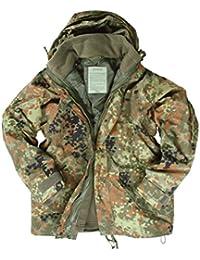 Cazadora impermeable, protege contra la humedad, diseño de camuflaje, con forro polar