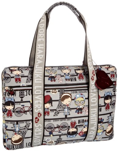 Harajuku Lovers 8911PF11PL, Damen Laptoptasche, Beige (plaid camper) (Plaid-damen-laptop-tasche)