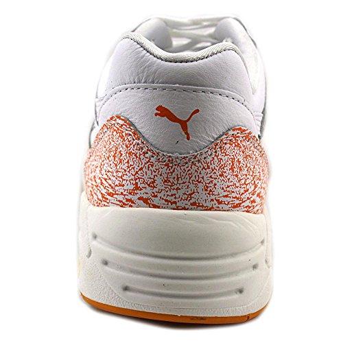 Puma Herren R698 Schnee Splatter-Pack-Turnschuhe White/Florescent Orange