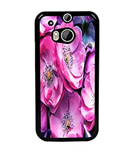 PrintDhaba Flowers D-2837 Back Case Cover for HTC ONE M8 EYE (Multi-Coloured)