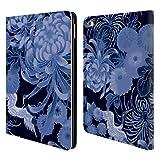 Head Case Designs Offizielle PLdesign Blau Vintage Blumig Brieftasche Handyhülle aus Leder für iPad Air 2 (2014)