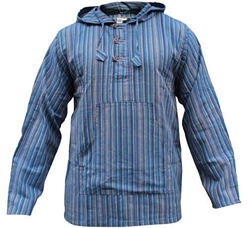 shopoholic-mode-mehrfarbig-dharke-streifen-grandad-kapuzenpulli-hemdleicht-benzin-blaue-mischung-x-l
