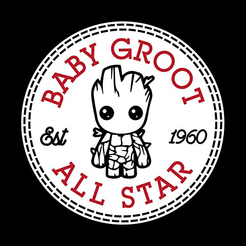 Guardians Of The Galaxy Baby Groot All Star Converse Women's T-Shirt Black