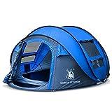 Automatisches Pop-up-Zelt für im Freien kampierende wasserdichte schnell-öffnende Zelte 4 Personen-Überdachung mit der Tragetasche Einfach, durch 290 * 200 * 130CM einzurichten , Blue