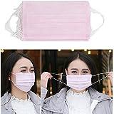 Masque non-tissé jetable de 3 couches Masque chirurgical médical (Rose)-40pcs