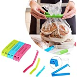 Plastic Food Snack Bag Pouch Clip Sealer For Keep Food Fresh For Home Kitchen Camping Snack, Seal Sealing Bag Clips(18Pc) (Multi Color)