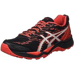 Asics Gel-Fujitrabuco 5, Zapatillas de Trail Running para Hombre, Varios Colores (Black/Vermilion/Silver), 45 EU
