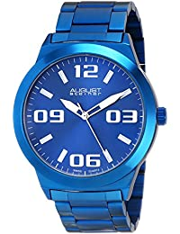 August Steiner Reloj Pantalla analógica cuarzo suizo Azul para Hombre