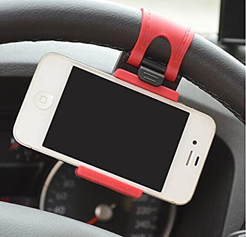 JessicaAlba Universal Cell Phone Car Mount Holder on Steering Wheel Better View & Buckle Clip Hands Free For Jeep Commander Compass Grand Cherokee Liberty Patriot Wrangler by JessicaAlba