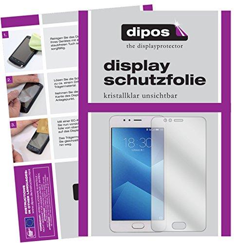 dipos I 2X Schutzfolie klar passend für Meizu M5s Folie Bildschirmschutzfolie