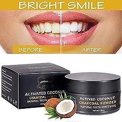 blanchiment des dents,blanchiment dentaire charbon,charbon pour les dents,poudre de blanchiment des dents au charbon actif,activated charcoal teeth whitening powder,améliore la santé bucco-dentaire
