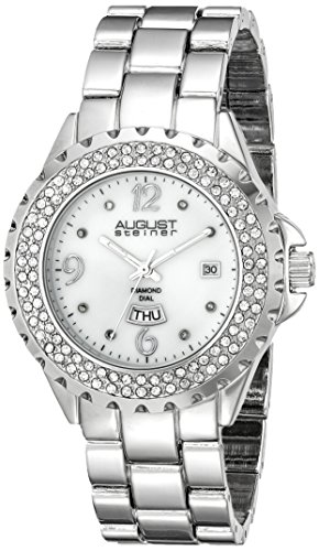 August Steiner Women's AS8156SS Silver-Tone Japanese Quartz Watch