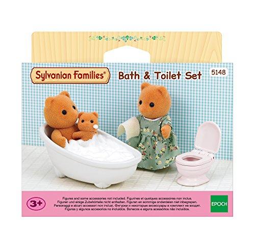 Sylvanian Families 5148 Badespielzeug mit WC-Set, Mehrfarbig