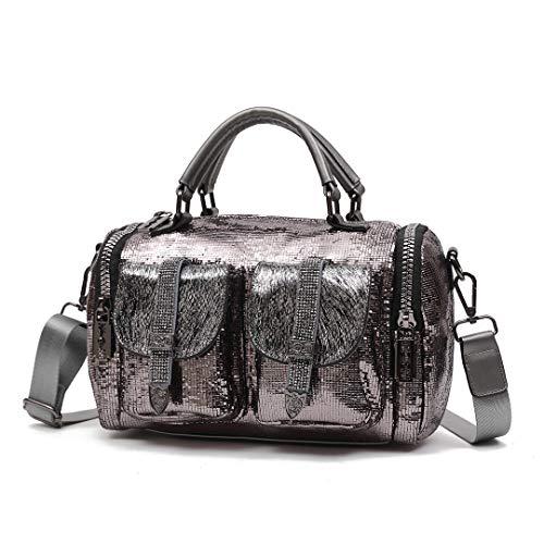 n Glitzer, Pailletten Handtasche für Frauen Fashion Stoff PU Leder Umhängetasche Freizeit Modern Henkeltaschen Crossbody Tasche ()