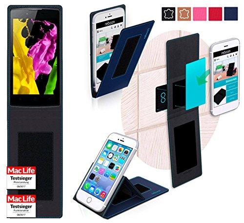 reboon Oppo Neo 5 Hülle Tasche Cover Case Bumper | Blau | Testsieger