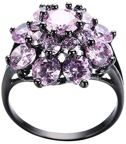 SaySure 10KT Black Gold Filled Elegant Anniversary Wedding & Engagement Ring