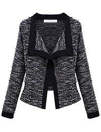 Demarkt Women's Winter Slim Lapel Cotton Knitting Coat Jackets Knitwear Blazer Suit