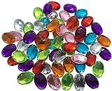 ovalada 25mm grandes multicolor reluciente piedras para coser brillantes piedras para coser (redondas acrílico Piedras gltzer piedras joyas piedras brillantes cristales decorativos para decorar de Crystal King