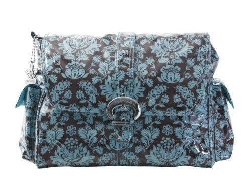 kalencom-bolso-cierre-de-hebilla-bolsa-toile-marron-azul