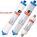 """Cartouches compatibles AC30 - Pack sédiment + charbon + post-charbon 3/8"""" - Crystal Filter®"""