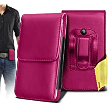 OPPO R5S Case Accessories - ( Hot Pink ) Premium Vertical PU Leather Side Pouch Case Cover with Belt Clip and Magnetic Closure Flap ( OPPO R5S Caso Accesorios - ( Hot Pink ) Premium Vertical cuero pu Bolsa Lateral Funda con clip para el cinturón y tapa de cierre magnético )