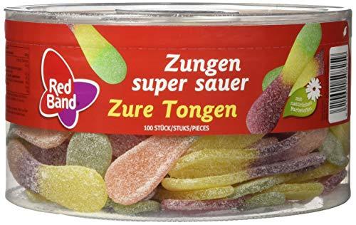 Red Band Zungen super sauer 1,28 kg Dose - 6er Pack   Fruchtgummi