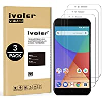 iVoler [3 Unidades] Protector de Pantalla para Xiaomi Mi A1, Cristal Vidrio Templado Premium
