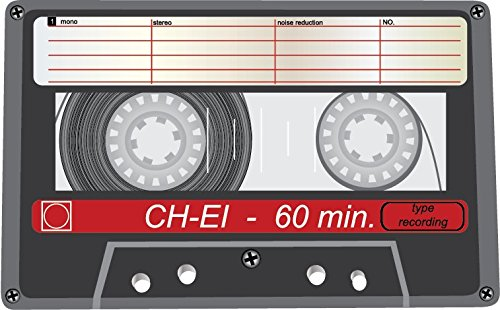 Audio Cassette CH EI Alta Calidad De Coche De Parachoques Etiqueta Engomada 12 x 10 cm