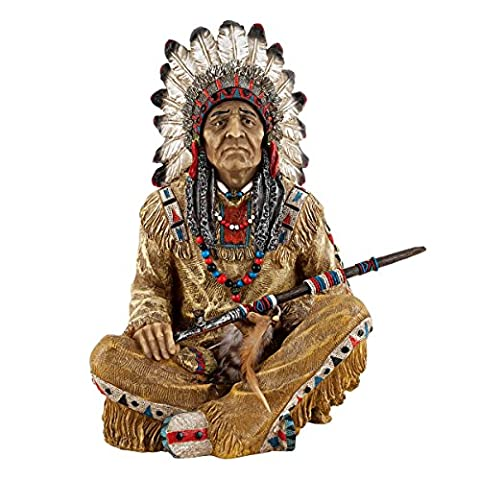 Design Toscano Noble Feathers Native American Statue