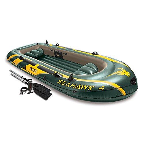 Preisvergleich Produktbild Intex Schlauchboot Set Seahawk 4 Größe 351x145x48cm Paddel Handpumpe