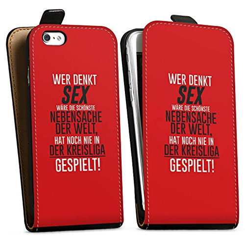 Apple iPhone X Silikon Hülle Case Schutzhülle Kreisliga Sex Fußball Downflip Tasche schwarz