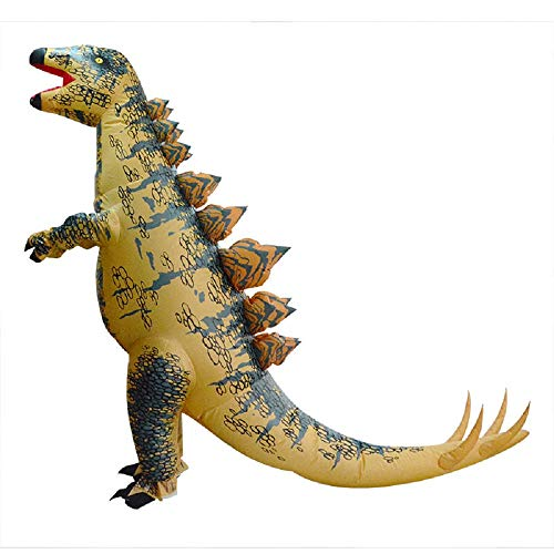 WJHCE Dinosaurier Aufblasbare Kostüm Stegosaurus Bühne Performance Lustige Halloween Weihnachten Spiel Cosplay Geschenk für ()