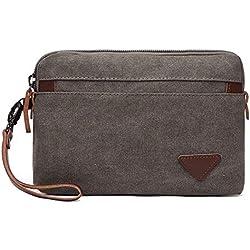 Bolso de mano con cremallera, monedero, monedero, monedero, teléfono, bolsa de viaje para hombre con pulsera