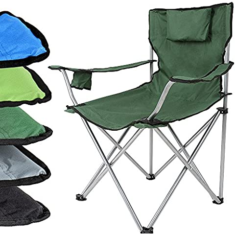 Miadomodo – Silla plegable para camping o jardin – color verde militar