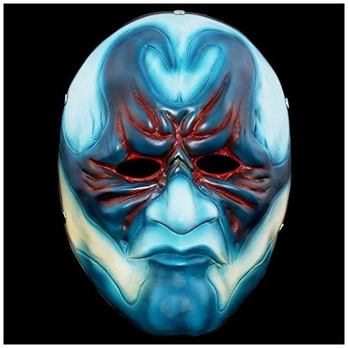 YaPin Halloween Paydy2 Thema Collector's Edition Ernte Tag 2: Männliche Räuber Spiel Party Horror Männer und Frauen Kopfbedeckungen Resin Mask